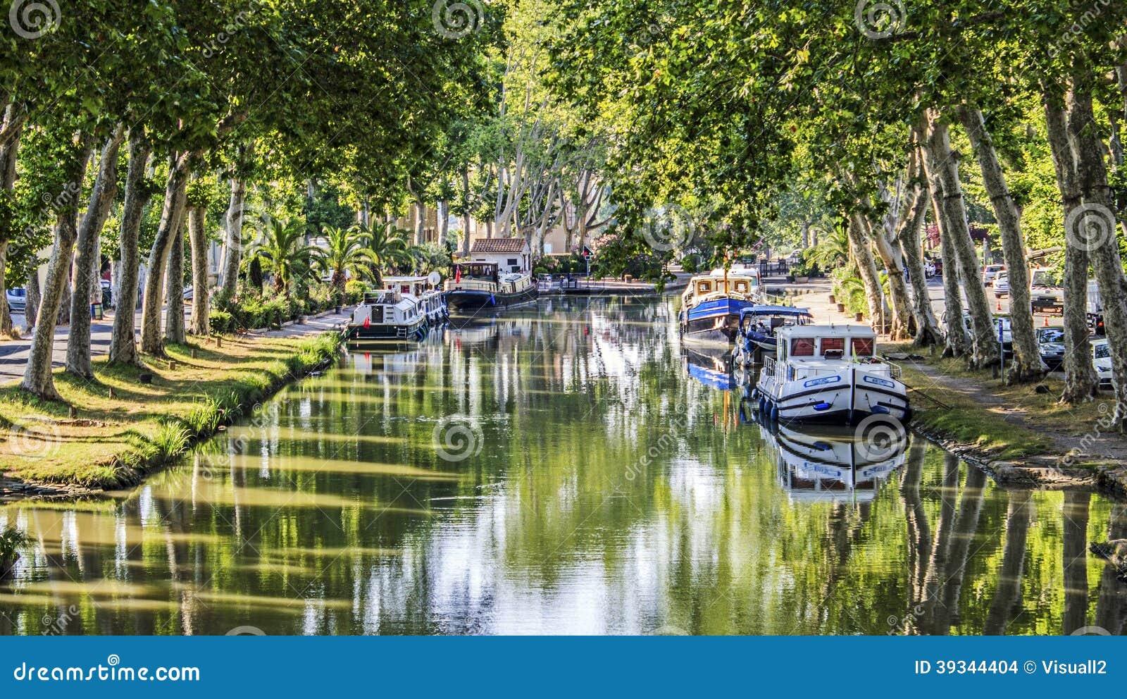 Canal du Midi vattenväg Frankrike.