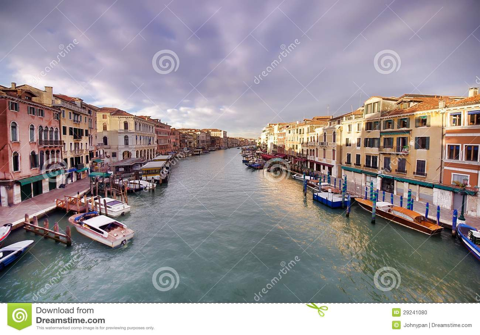 Download Canal grande de Veneza foto de stock. Imagem de gondola - 29241080