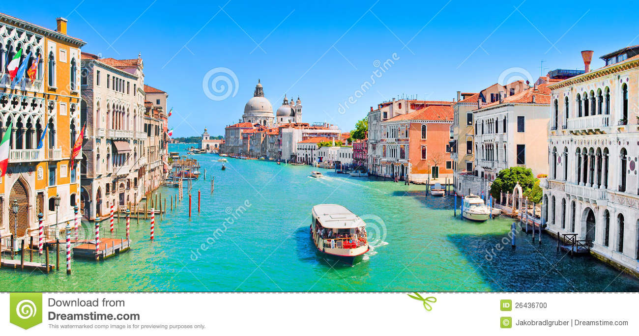 Canal Grande panorama in Venice, Italy