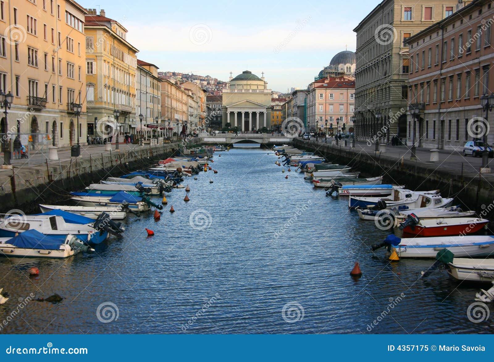 Canal grandioso em Trieste