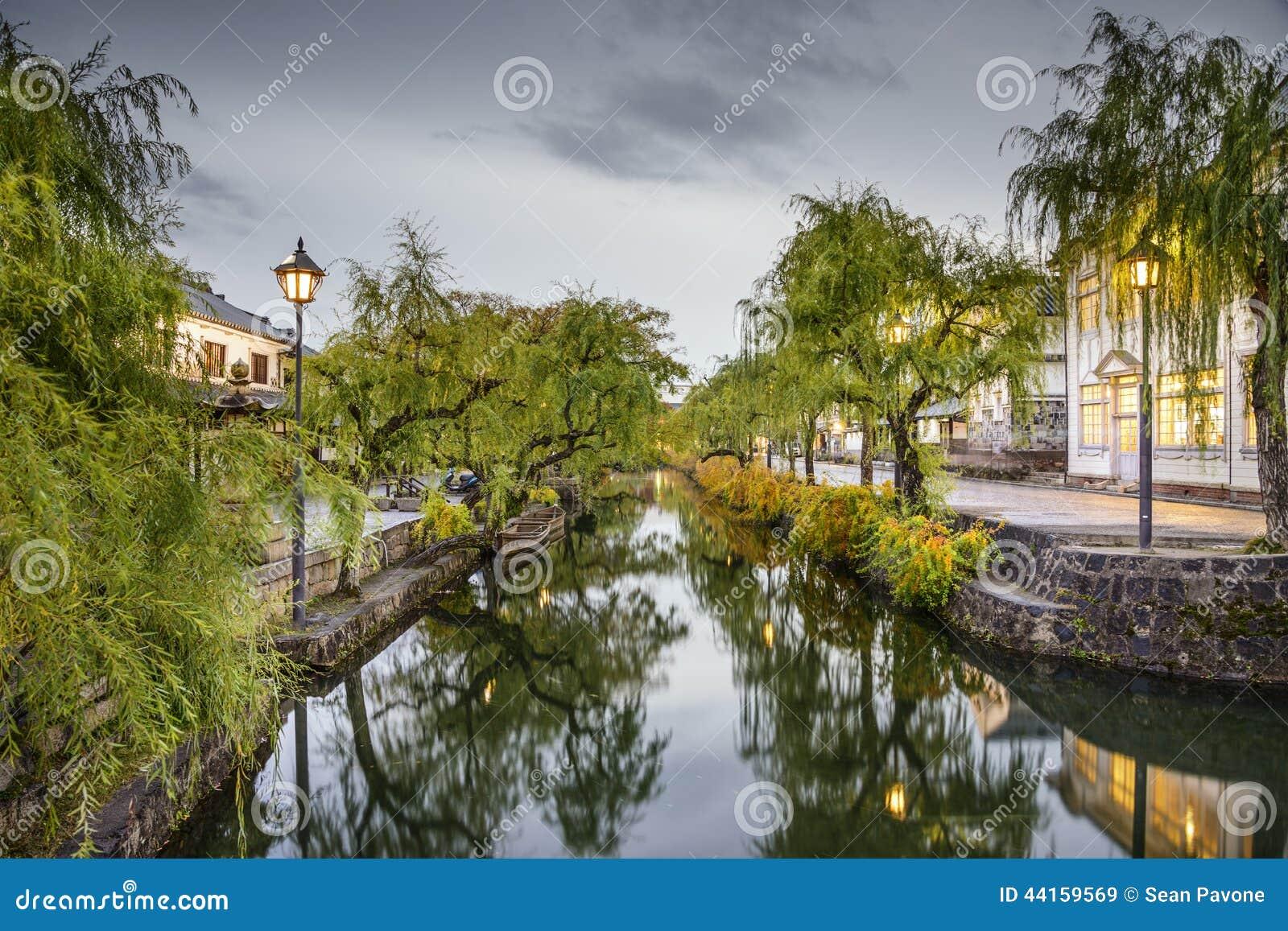 Canal histórico de Okayama, Japão
