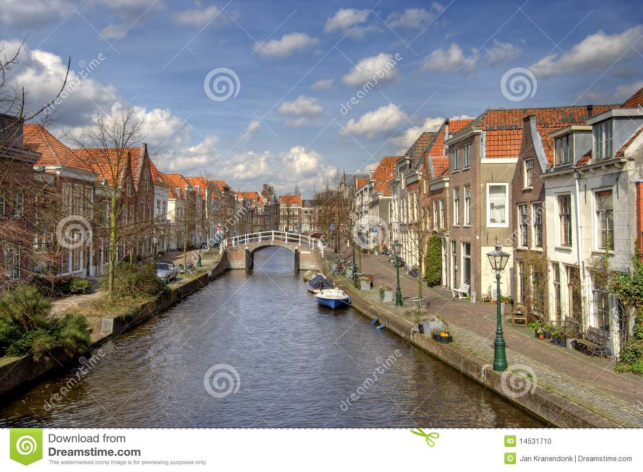 Canal In Leiden Holland Stock Photo Image Of Village 14531710