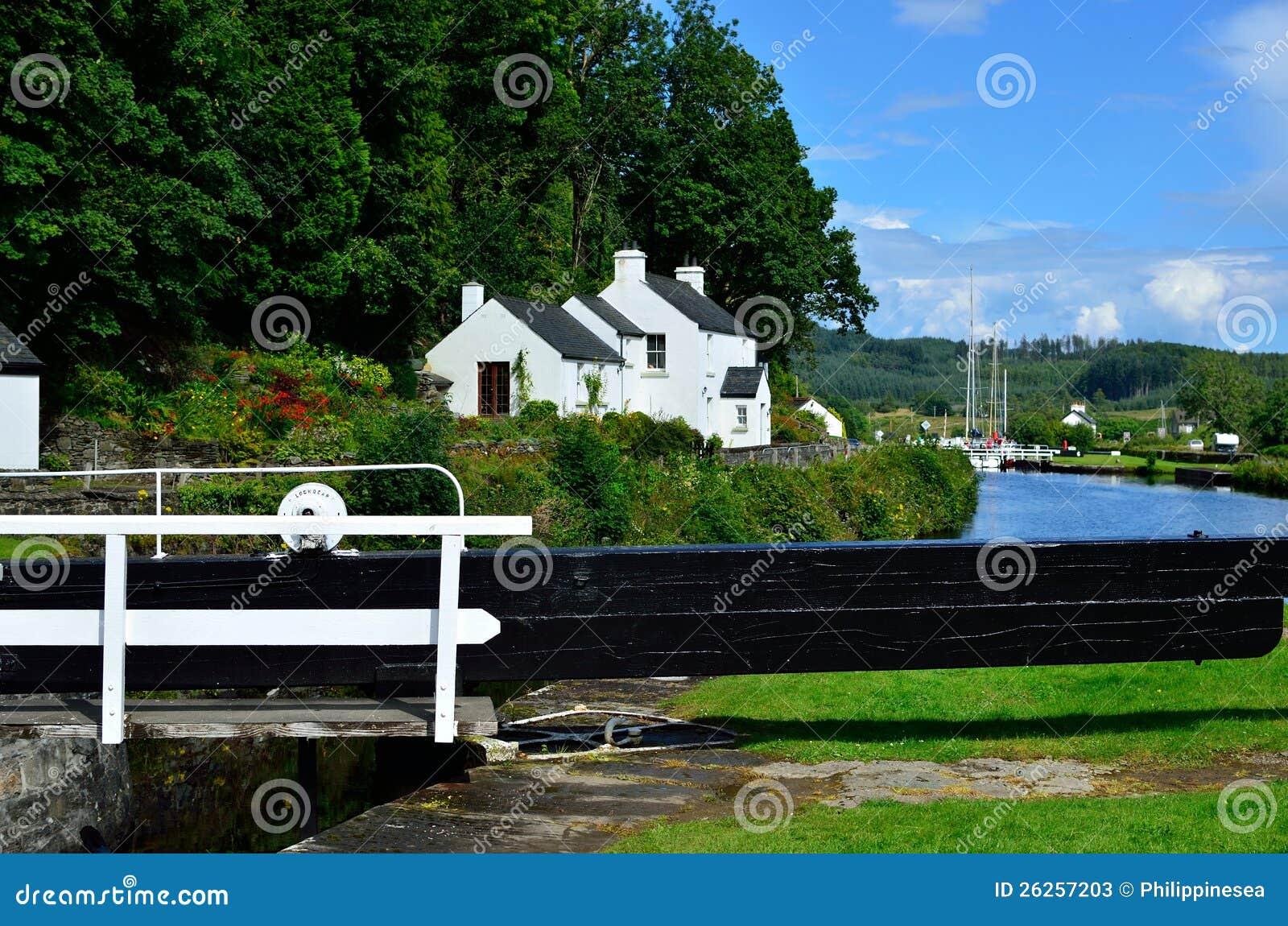 Canal lock gate