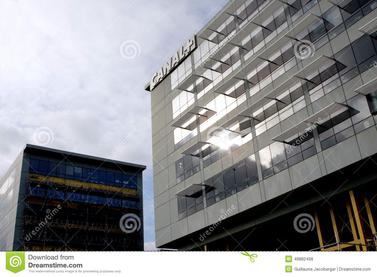 Download Canal Plus TV building editorial stock photo. Image of premium - 49882498