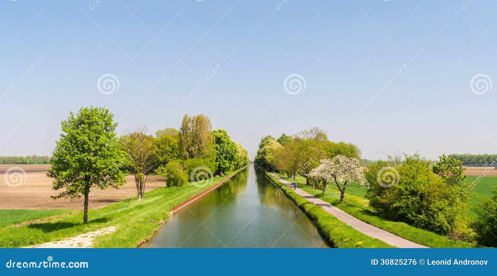 Canale del Reno - di Rhone l Alsazia - in Francia