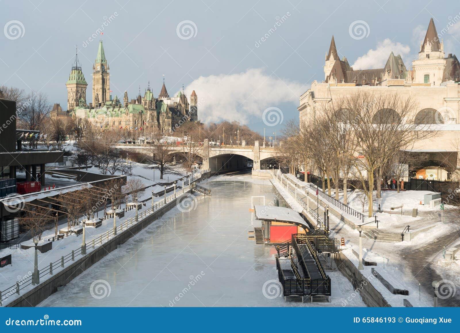 Canale di Ottawa Ridean nell inverno