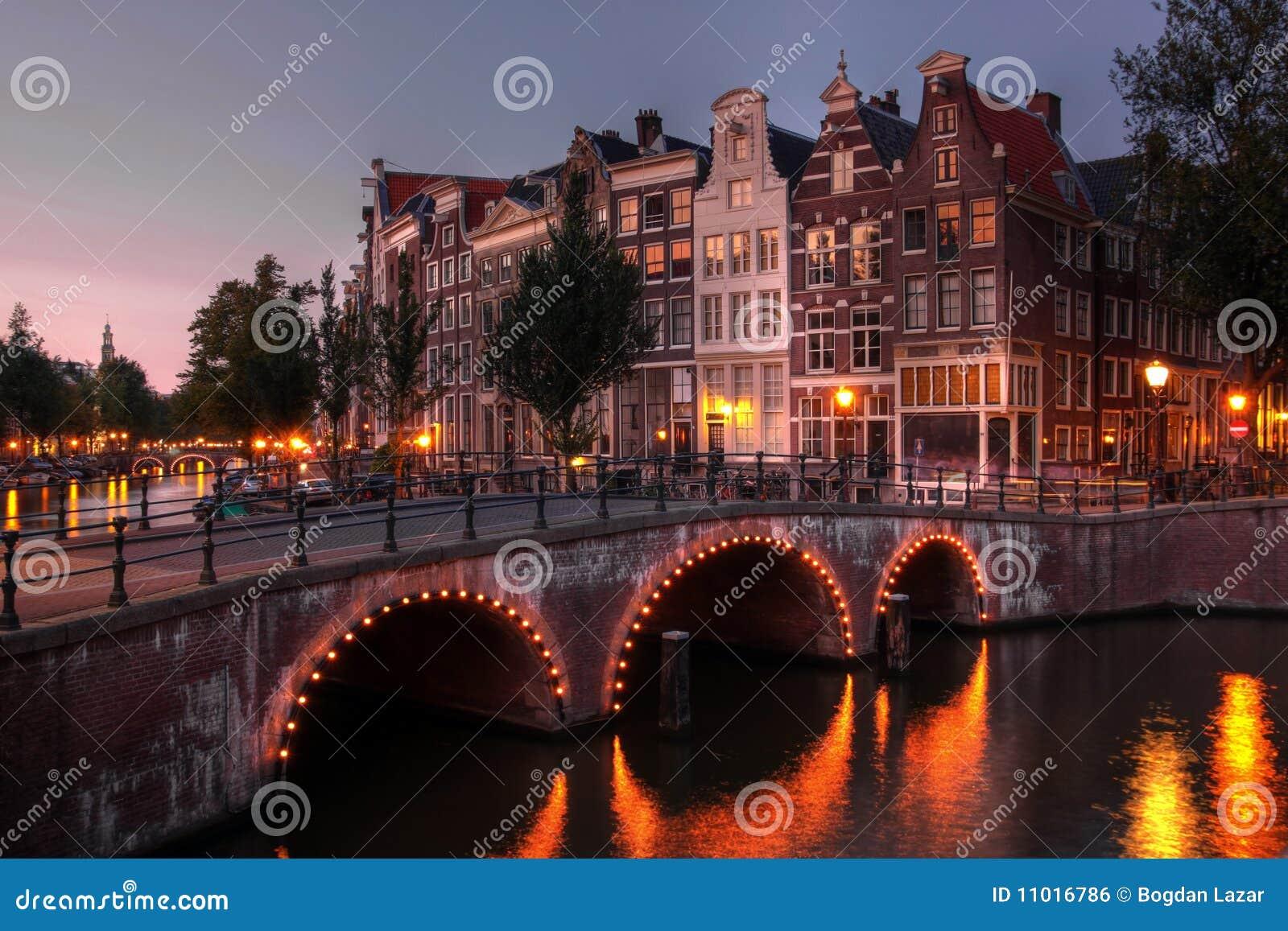 Canale a penombra, Paesi Bassi di Amsterdam