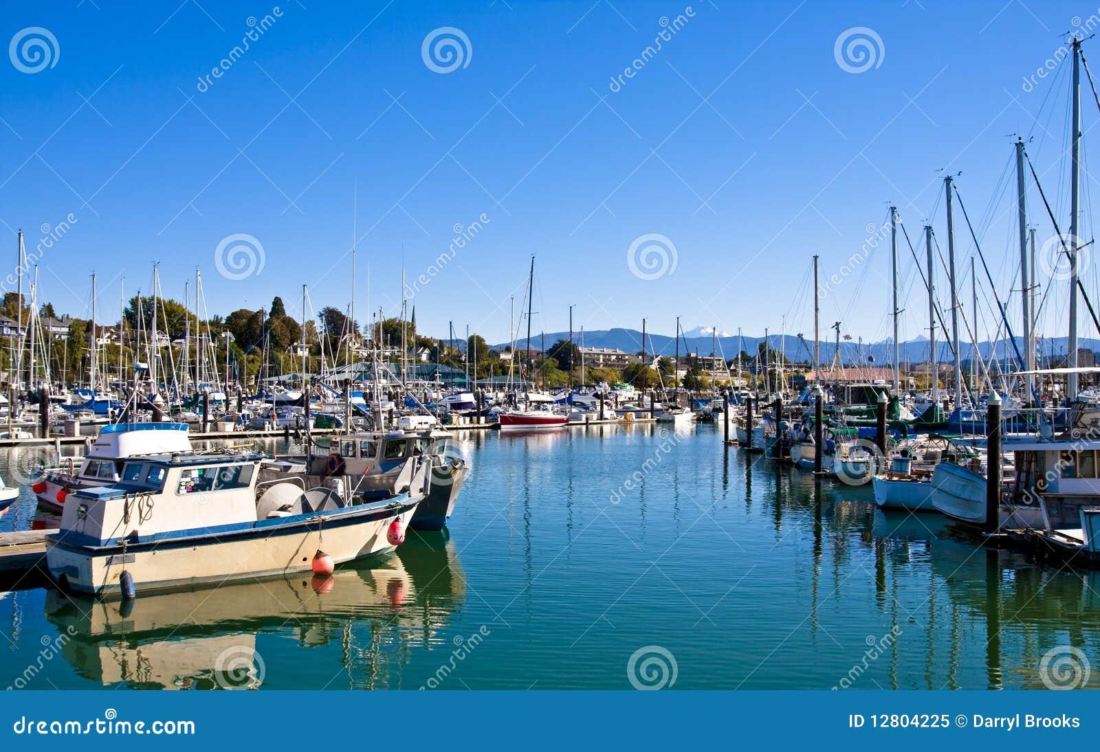 Canaleta azul no porto