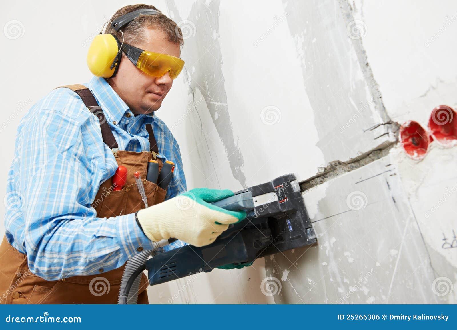canaleta maching do eletricista na parede imagem de stock royalty free imagem 25266306. Black Bedroom Furniture Sets. Home Design Ideas