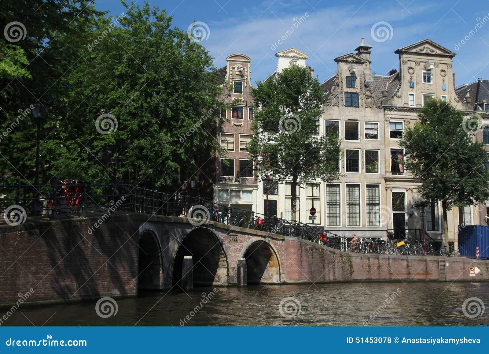 Canaletas em Amsterdão