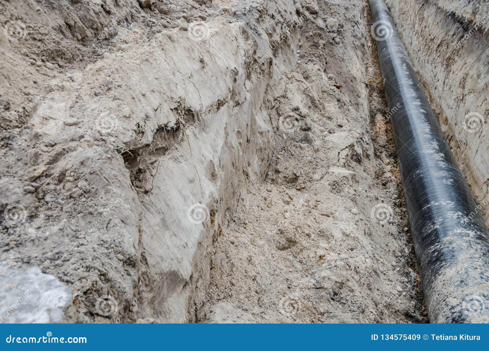 Canalisation, réparation d approvisionnement en eau, puits et long tuyau