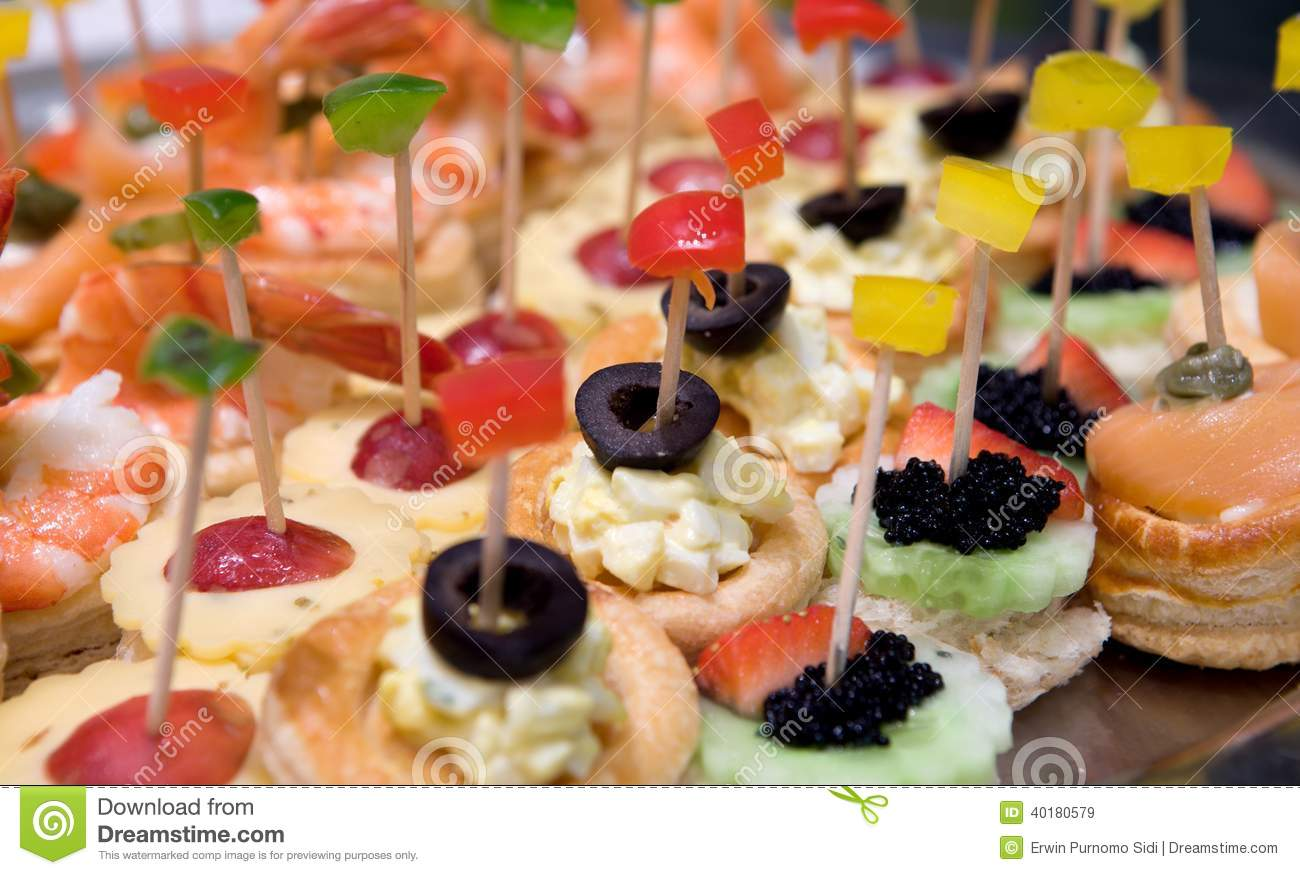 canap or petit four stock photo image 40180579