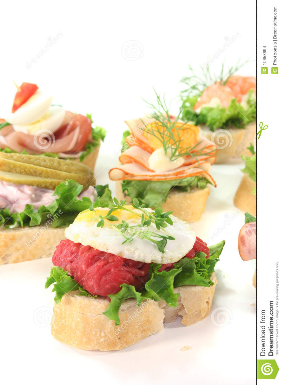 Canape stock foto afbeelding bestaande uit garnishing for Canape garnishes