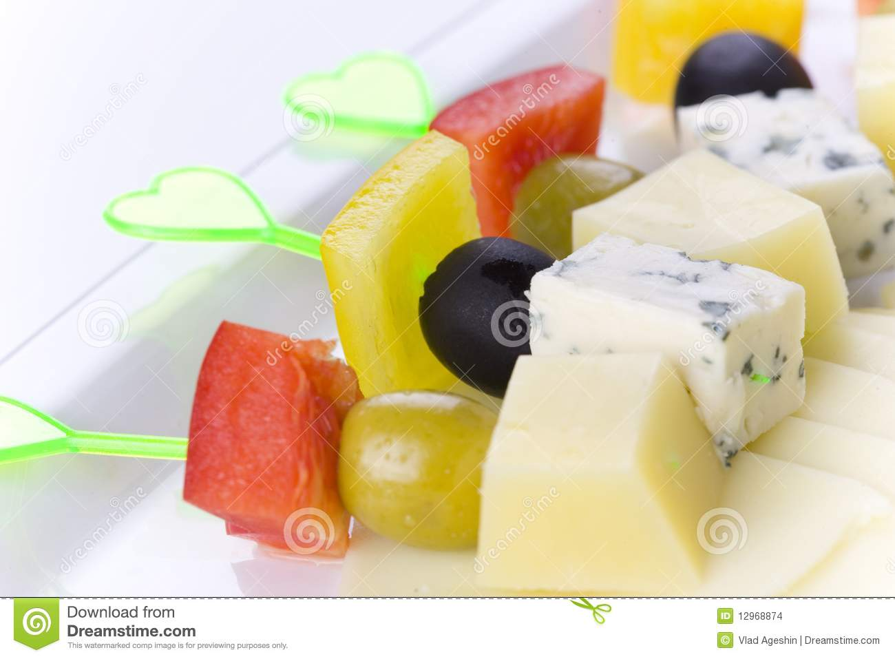 Canape with cheese stock images image 12968874 for Canape with cheese