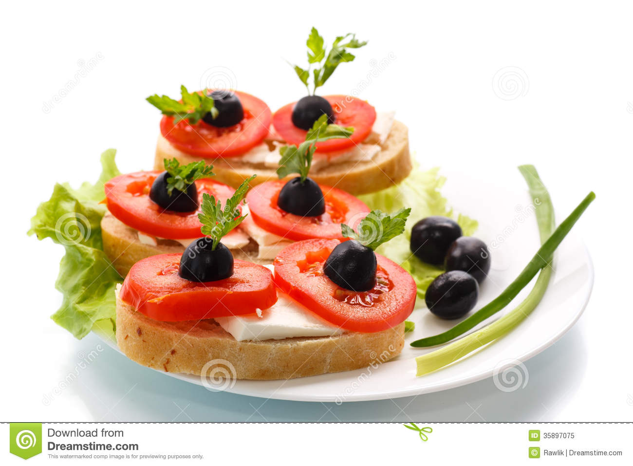 Canape stock image image of bruschetta cherry plate for What is a canape plate