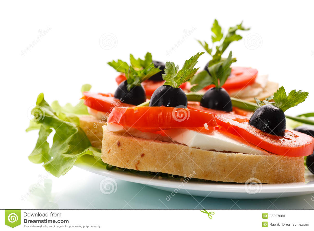 Canape stock photos image 35897083 for Canape with cheese