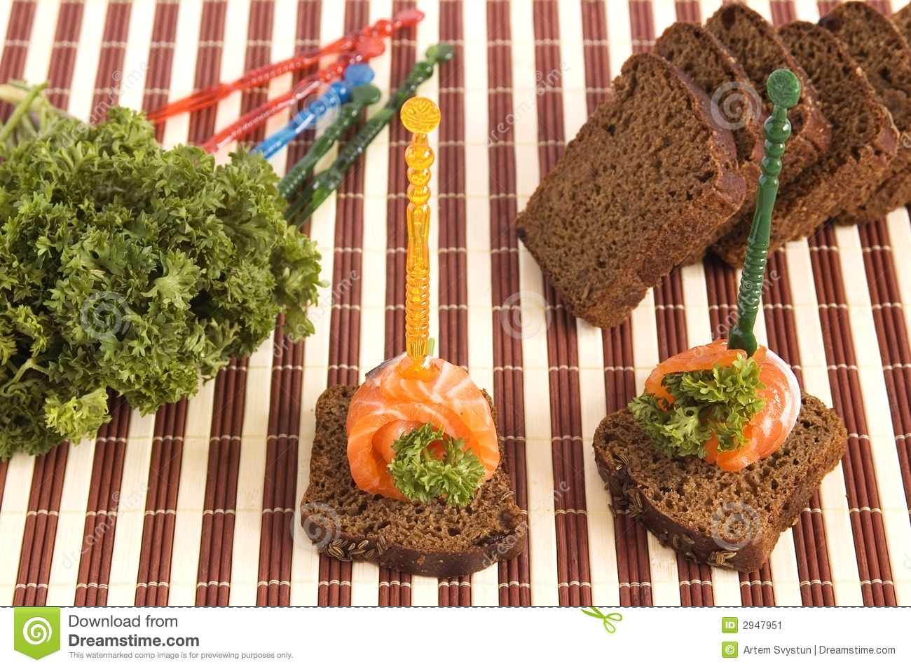 Canape example stock image image of mushroom dill tasty for Canape examples