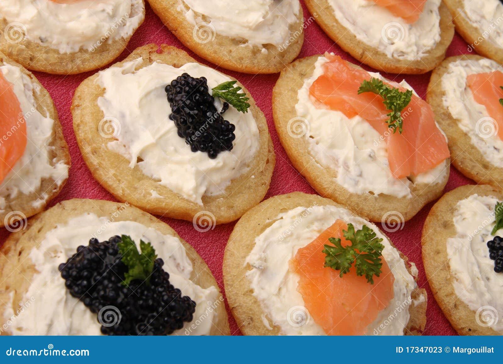 Canape food stock image image of delicious lumpfish for Canape de caviar