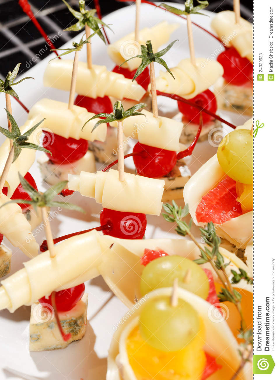 Canape on the plate stock photo image of cheese for Canape restaurant