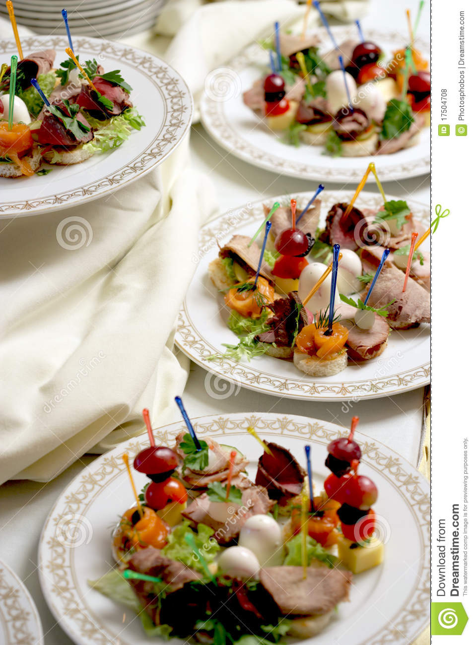Canape on a plates royalty free stock photos image 17504708 for What are canape plates