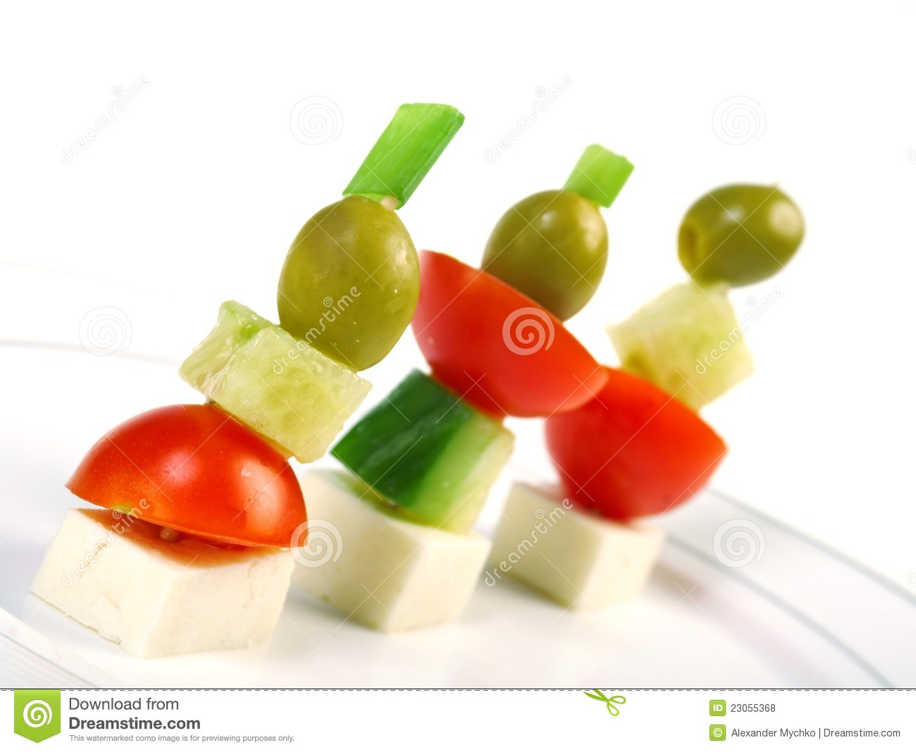 Canape platter with cheese cucumber tomato olives royalty for Canape platters