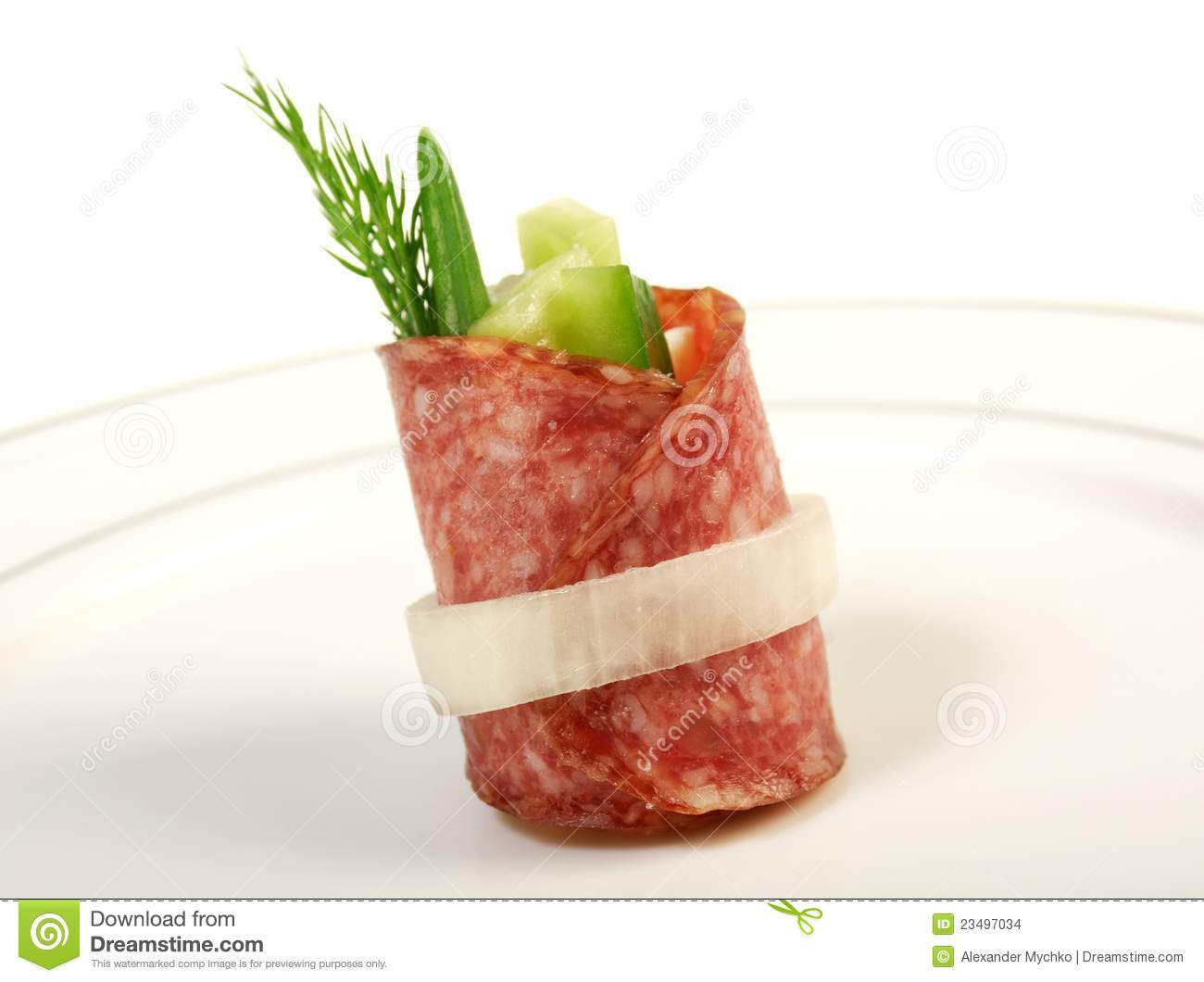 Canape platter with salami stock images image 23497034 for Canape platters
