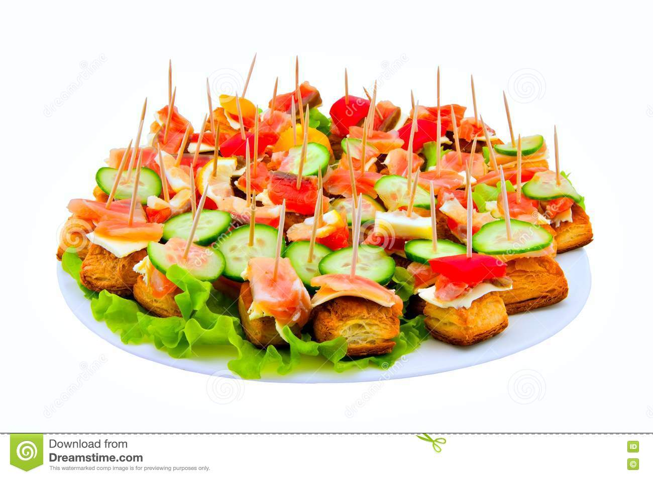 Canape with red fish royalty free stock photos image for Canape software