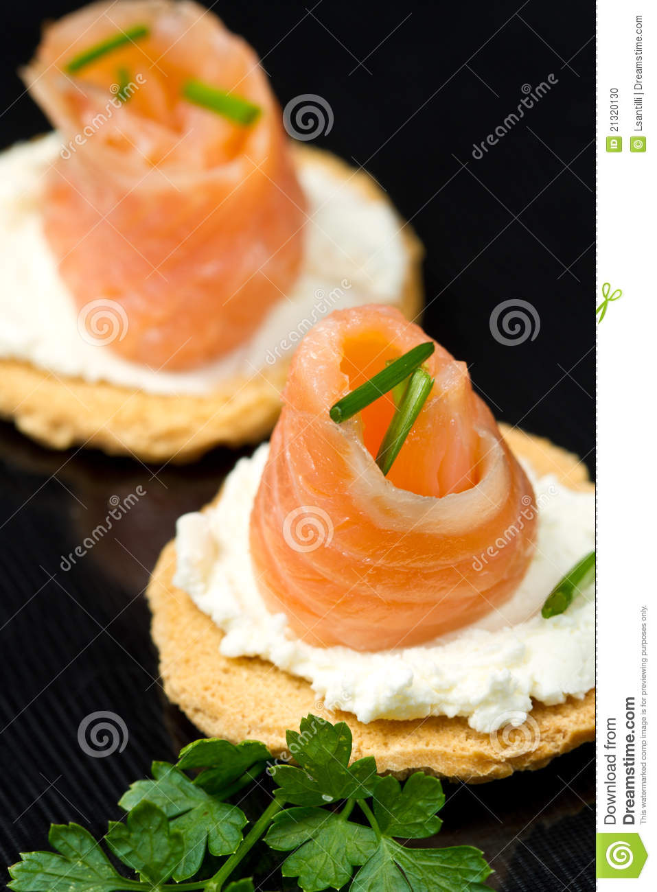 Canape with salmon stock photo image 21320130 for Canape yam but
