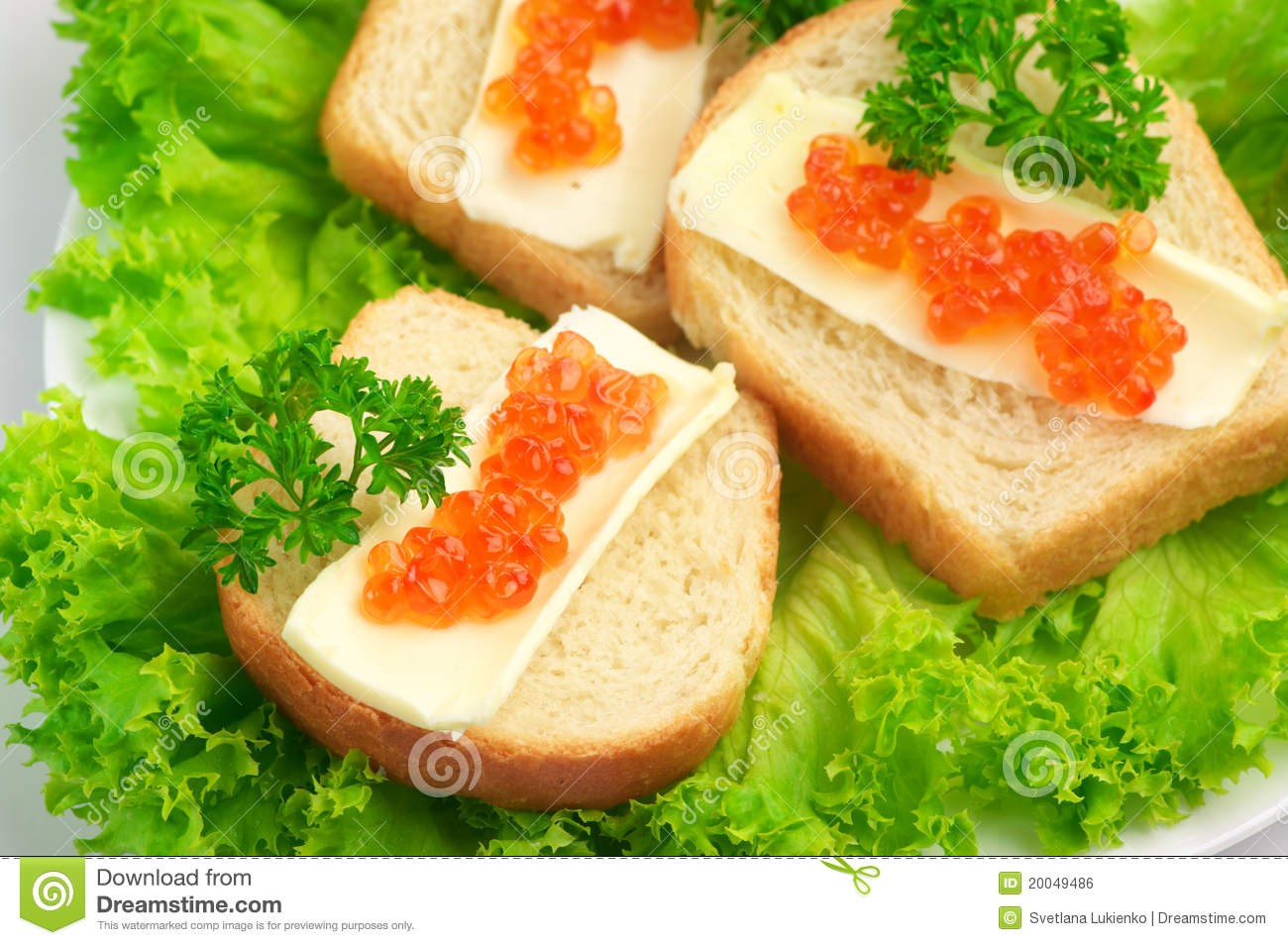 Canape with salmon caviar royalty free stock image image for Canape with caviar