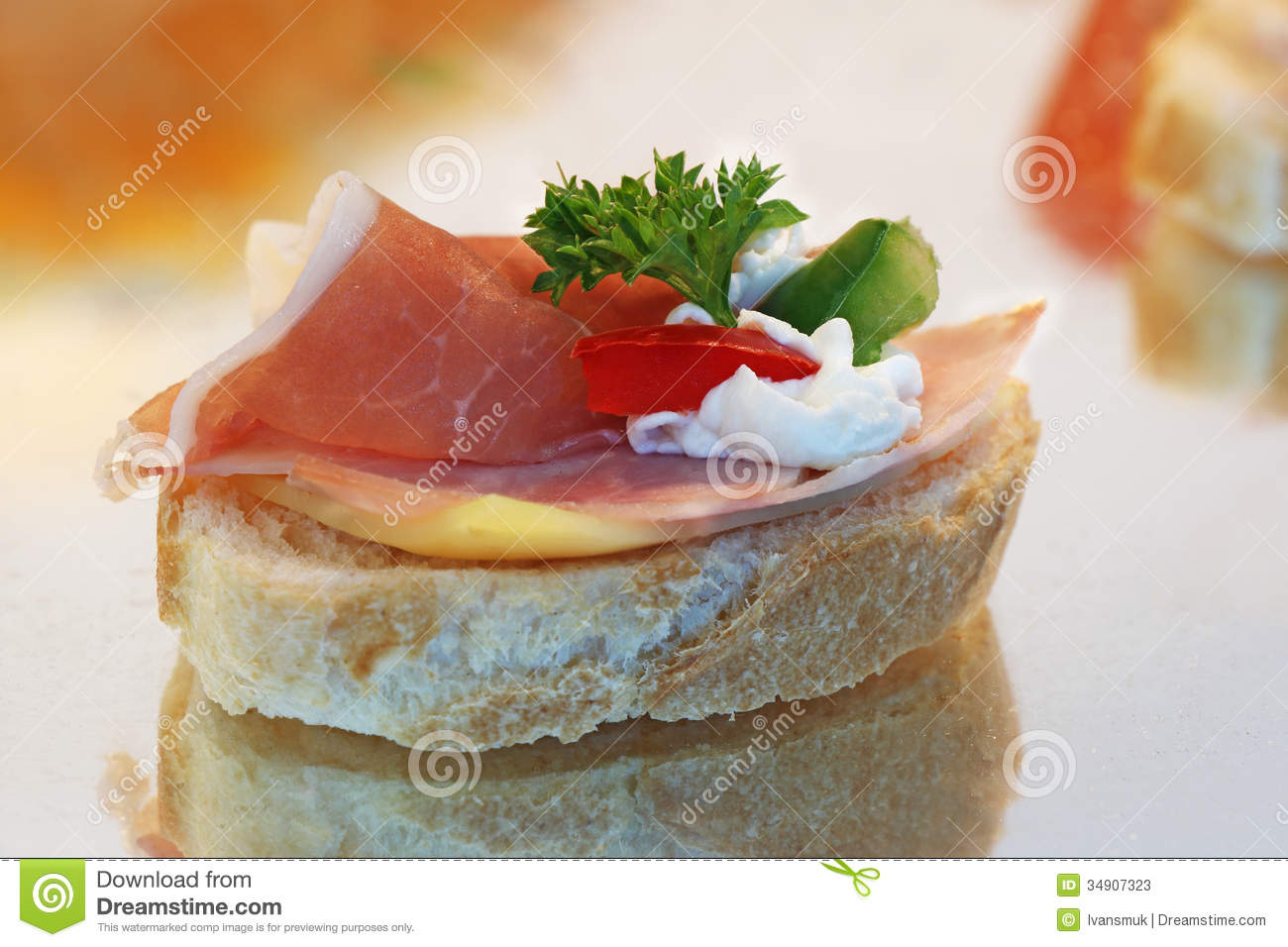 canape sandwich stock photos image 34907323