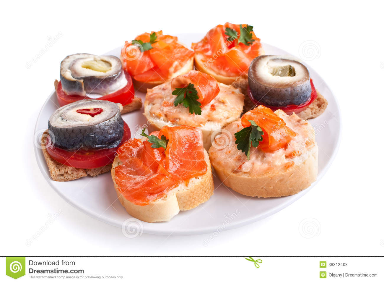 Canape sandwiches with fish stock photos image 38312403 for Canape sandwich