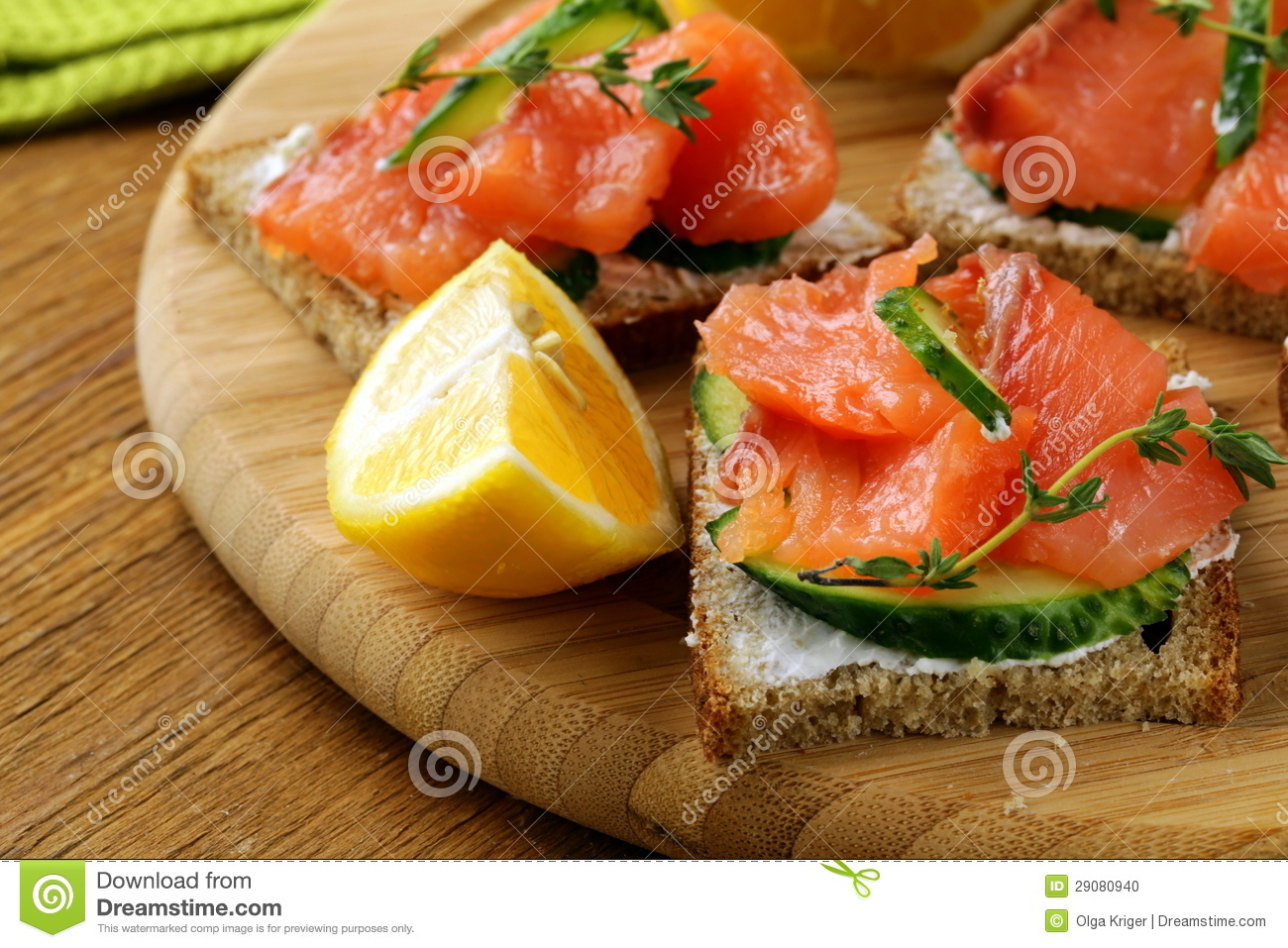 Canape sandwiches with salmon stock photo image 29080940 for Canape sandwich