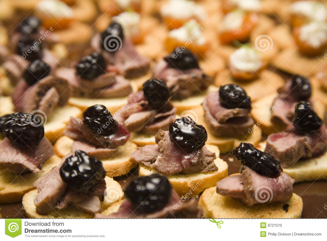 Canape selection stock photo image 8721510 for Canape selection
