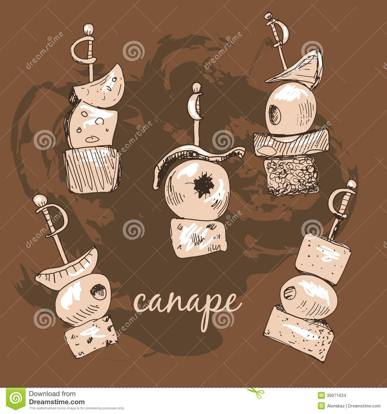 Canape stock vector image 39971634 for Canape vector download