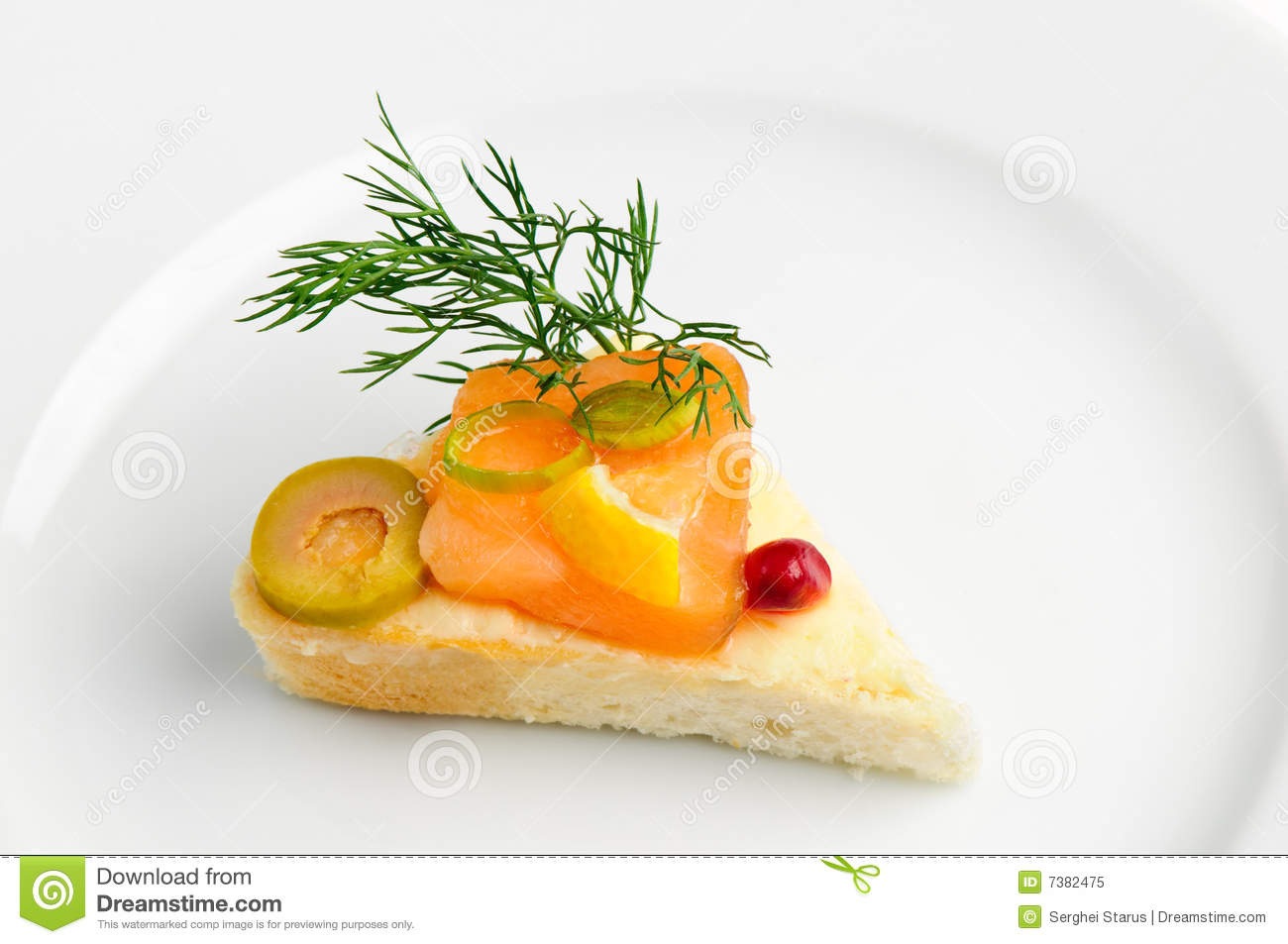 Canape with smoked salmon royalty free stock photo image for Canape vector download