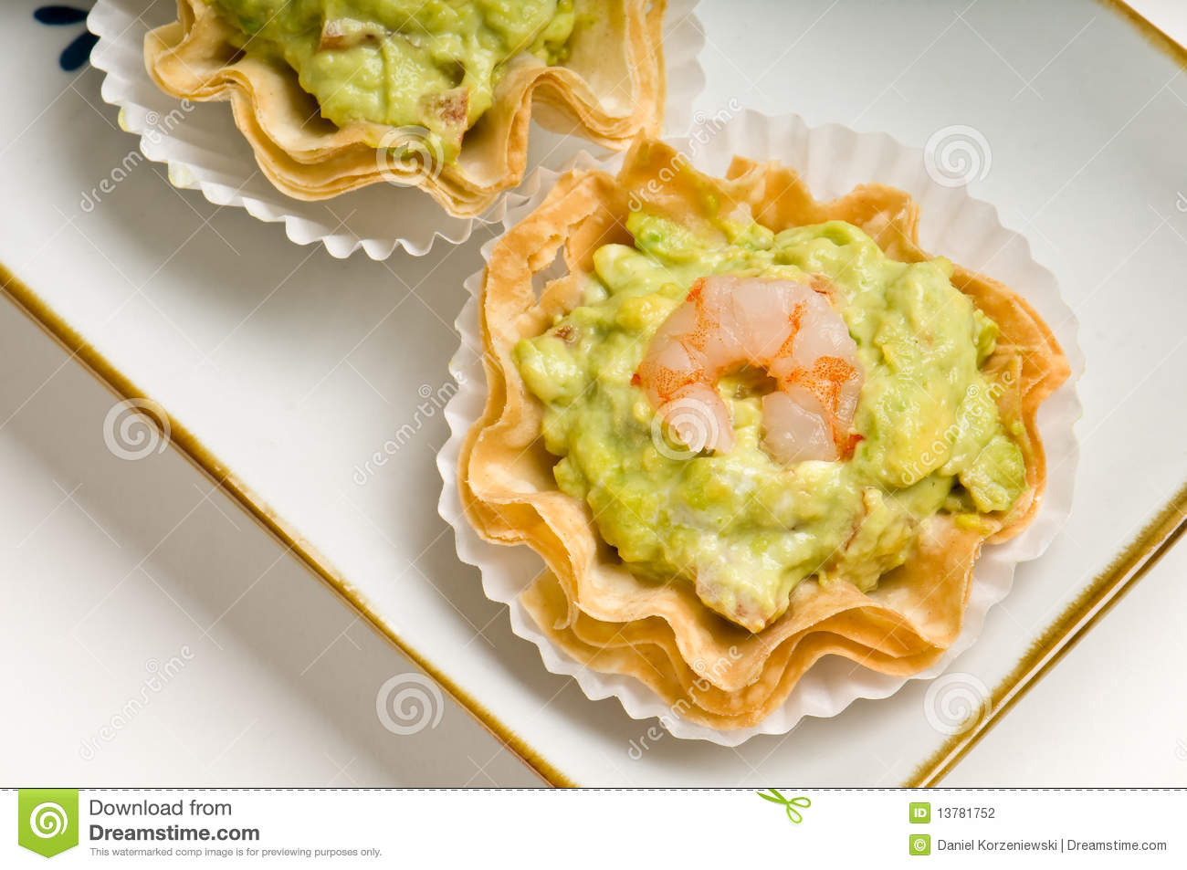 Canape tray of shrimp and avocado stock photography for What does canape mean in french