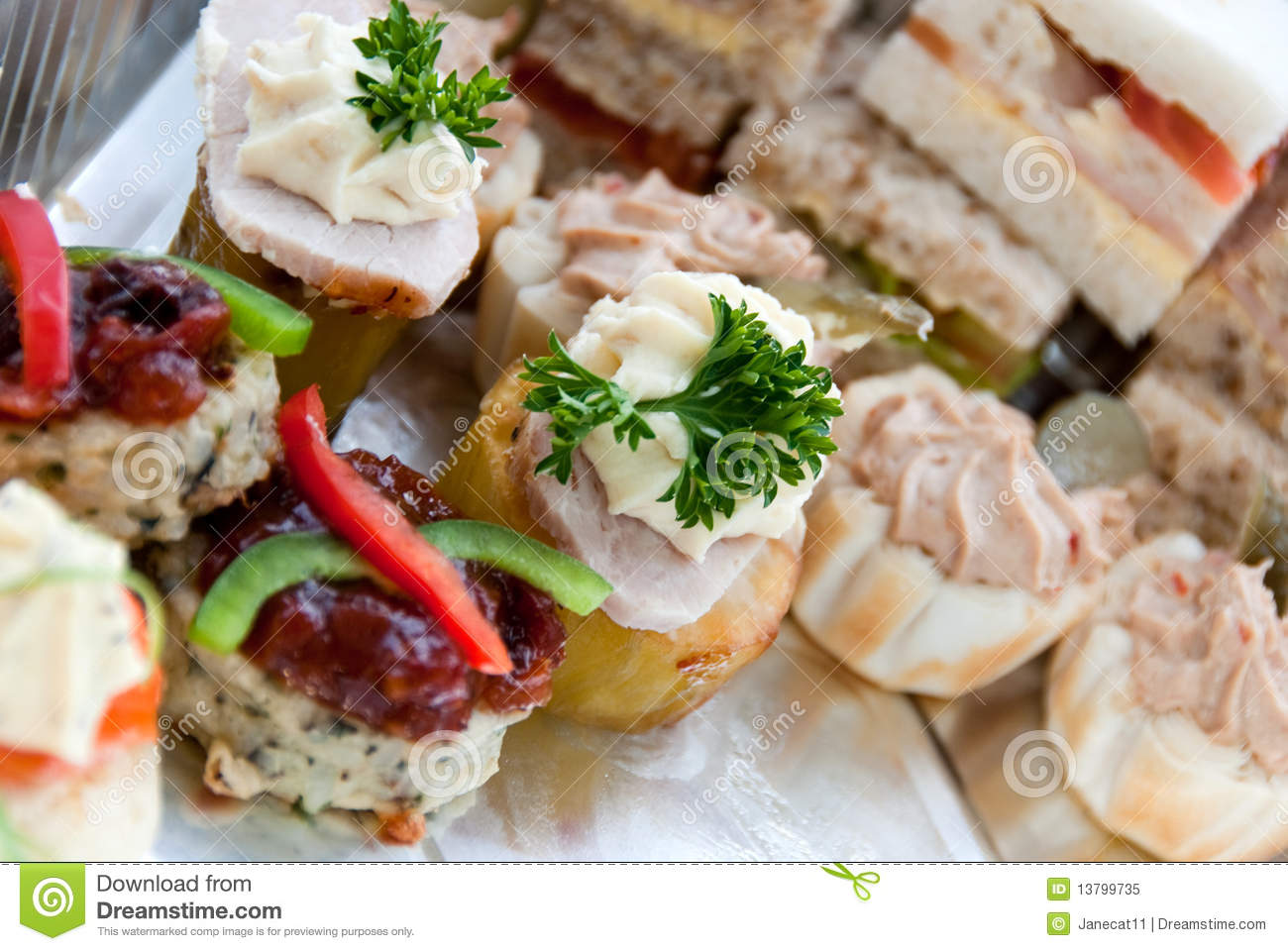Canapes royalty free stock photo image 13799735 for Canape sandwiches