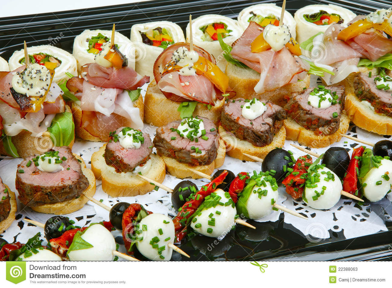 Canapes stock photos image 22388063 for Canape serving platters