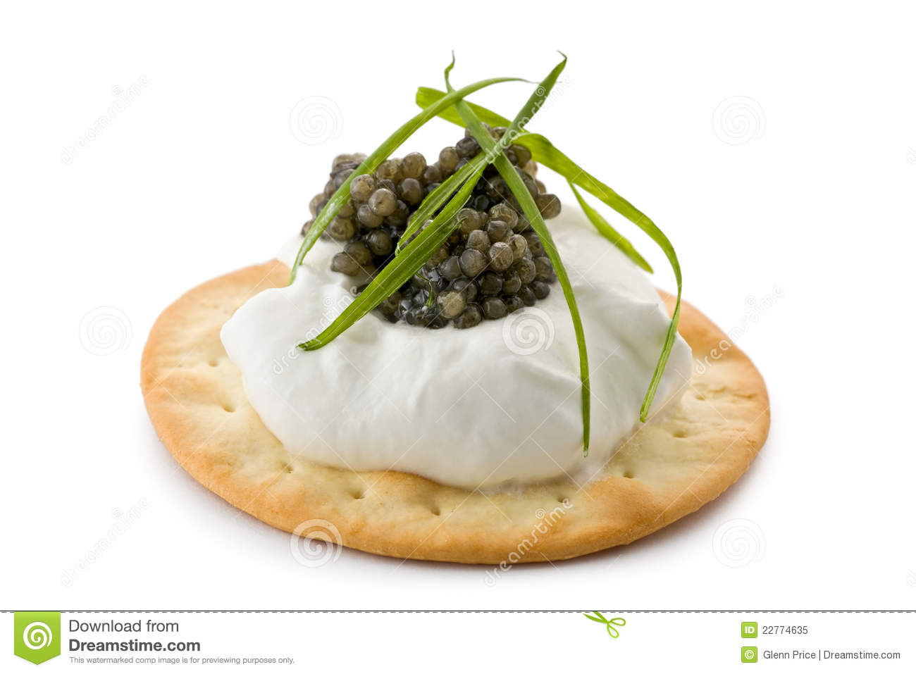 Canapes with caviar and creme fraiche royalty free stock for Canape with caviar