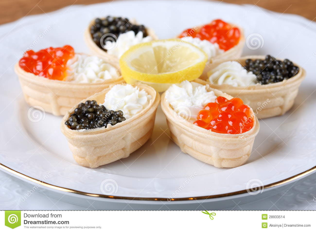 Canapes with cream cheese and caviar stock photo image for Canape with caviar