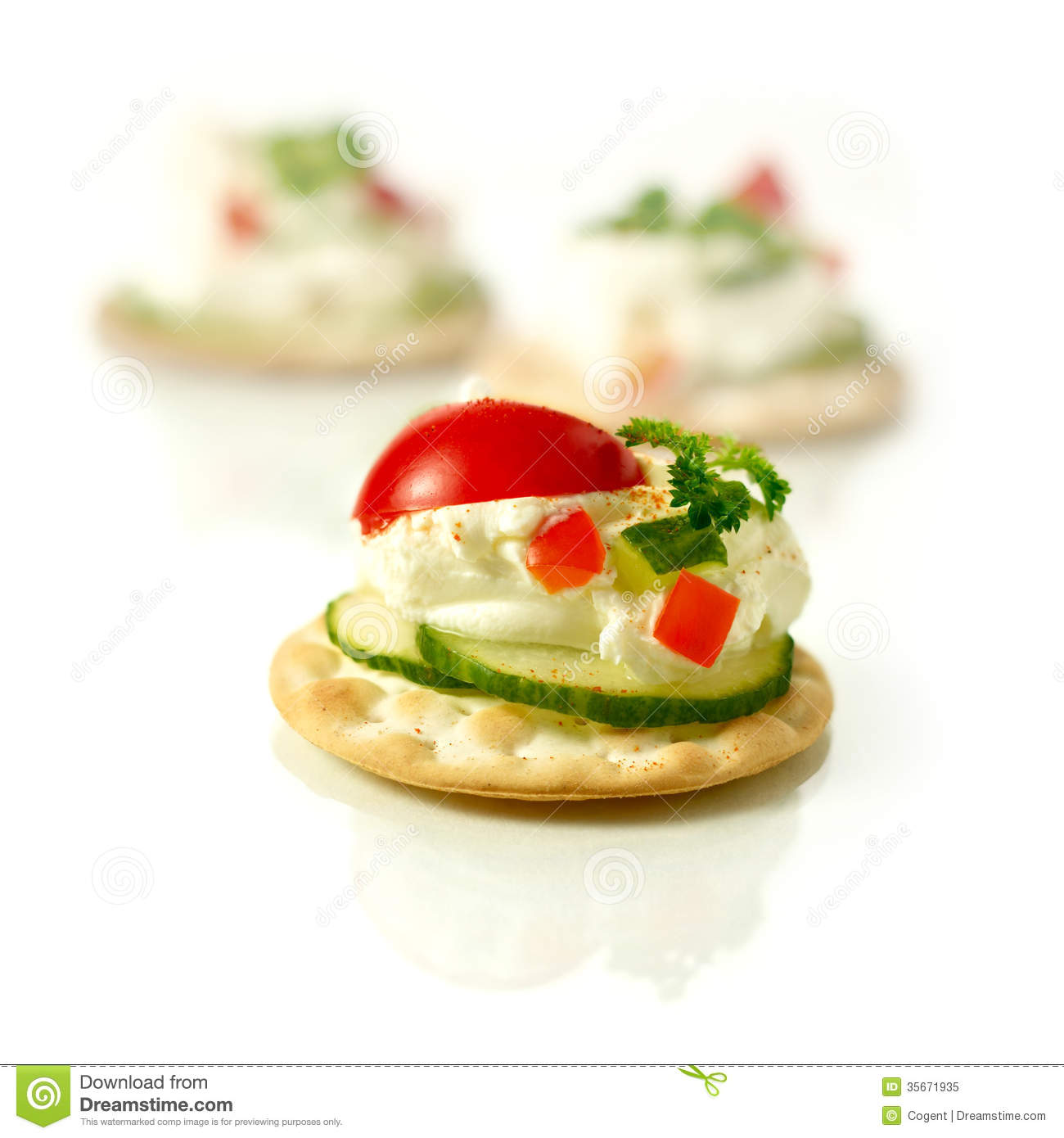 canapes stock image image of cheese gourmet herb food