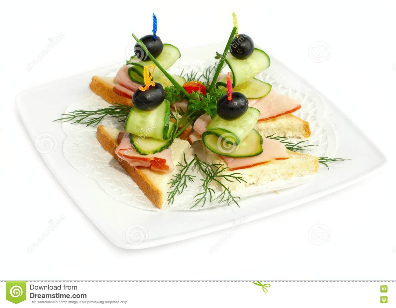 Canapes on the plate royalty free stock image image for What is a canape plate
