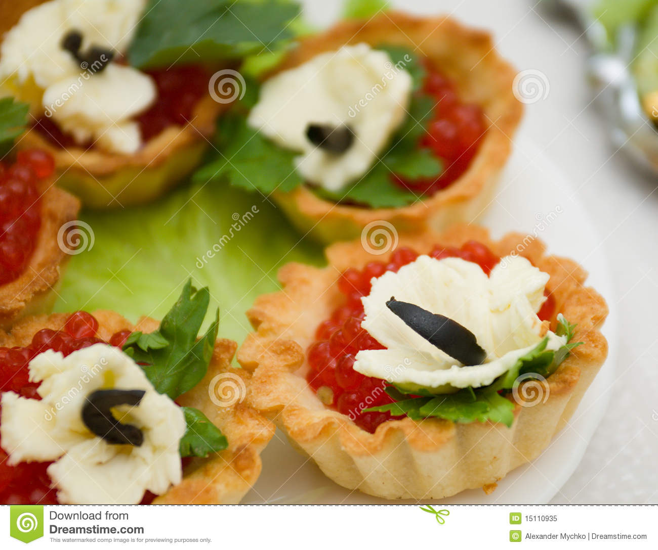 Canapes with red caviar royalty free stock photo image for Canape with caviar