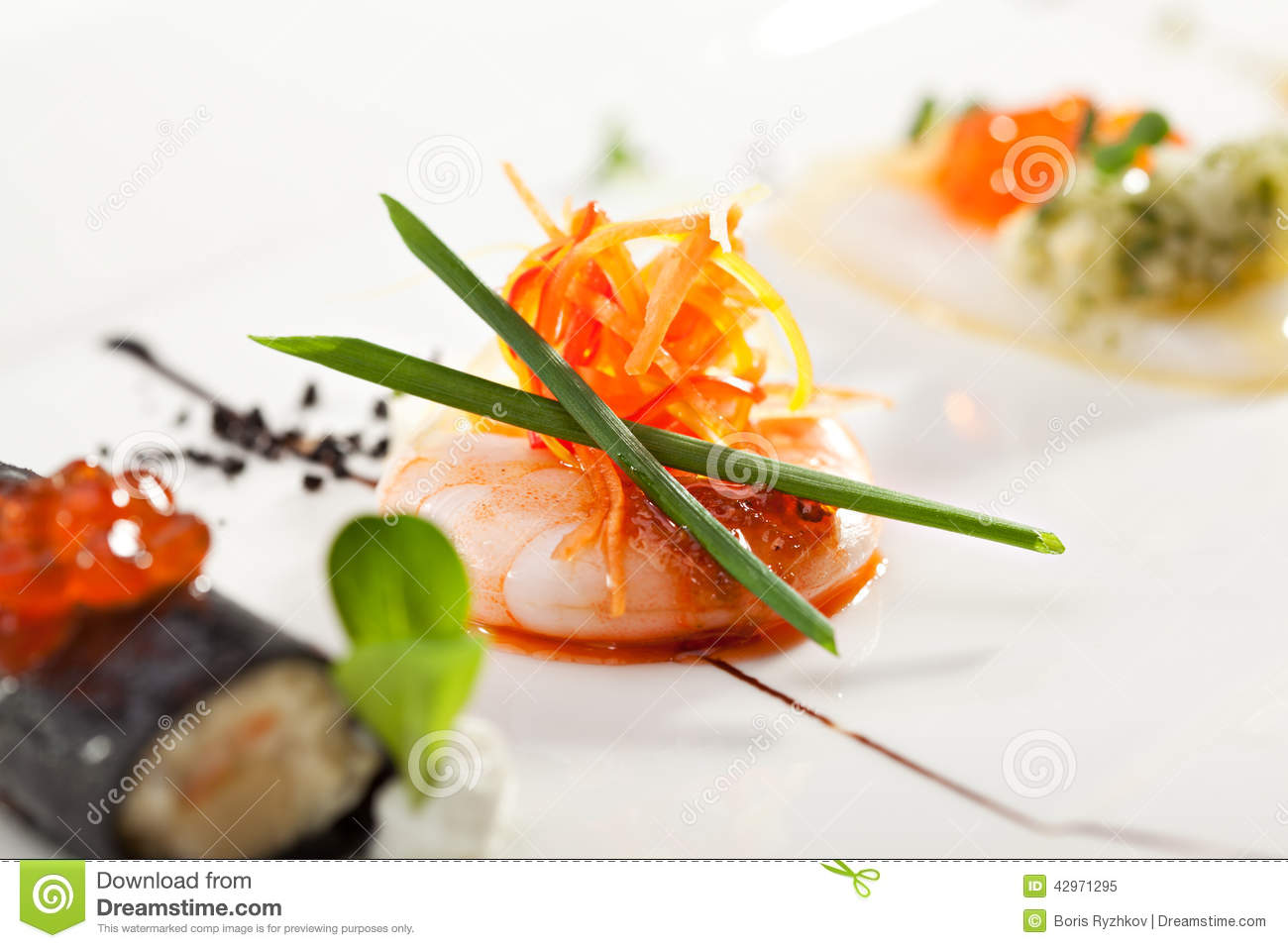 Canapes stock image image of nobody fish garnish for Canape garnishes