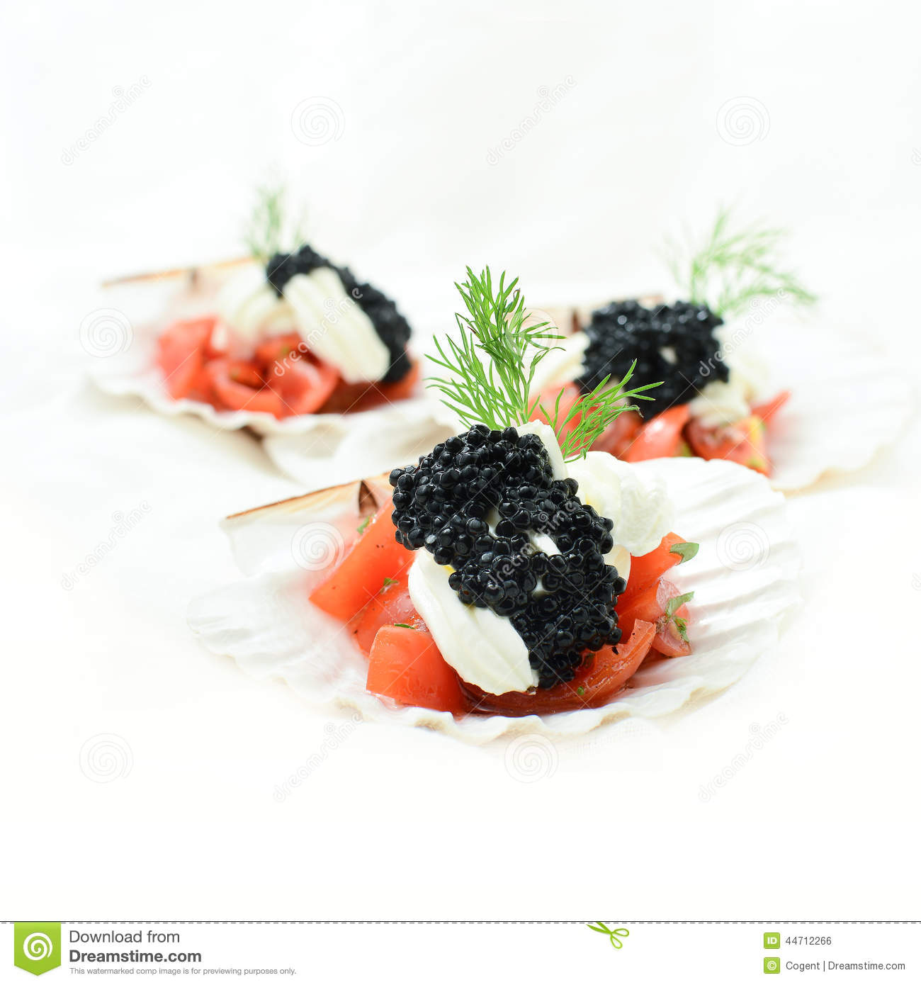 Canapes stock photo image 44712266 for Canape garnishes