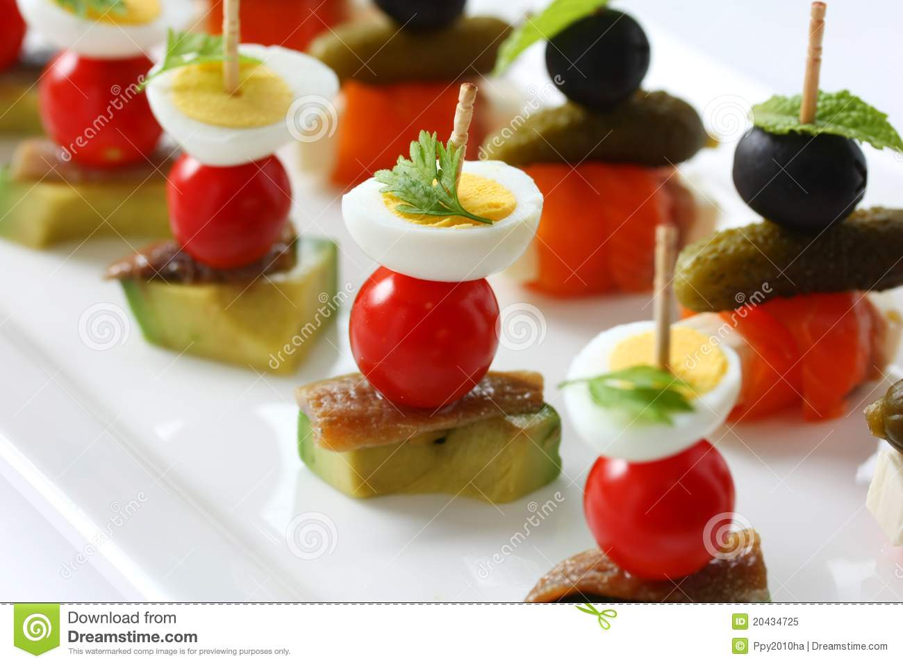 Canapes on toothpicks pinchos stock image image of for What is a canape appetizer