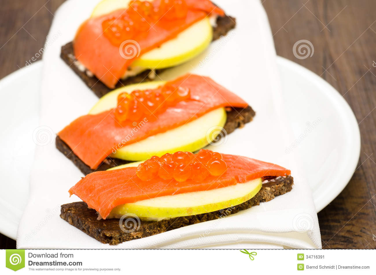Canapes with wild salmon and caviar stock image image for Canape with caviar