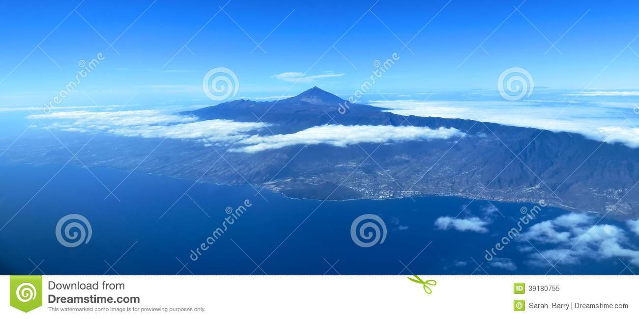 The Canary Island Of Tenerife Aerial View Stock Photo Image 39180755