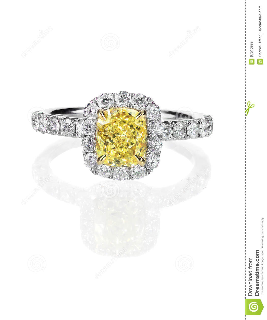 engagement diamond canary yellow rings