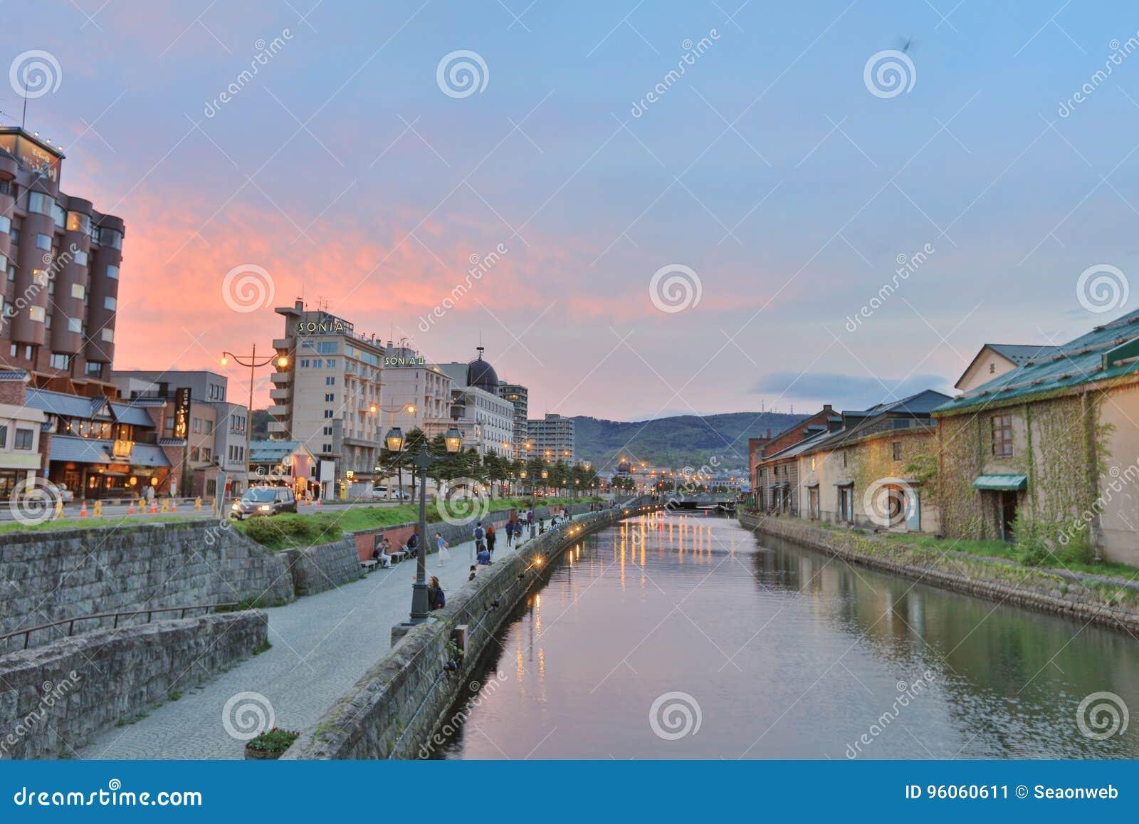 Canaux historiques d Otaru à Otaru, Hokkaido, Japon